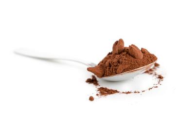Löffel Kakaopulver