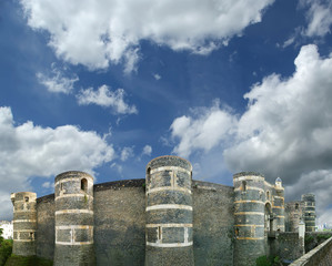 Exterior of Angers Castle, Angers city, France