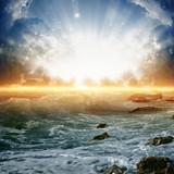 Fototapety Beautiful sunrise on sea