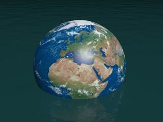 Untergehende Erde