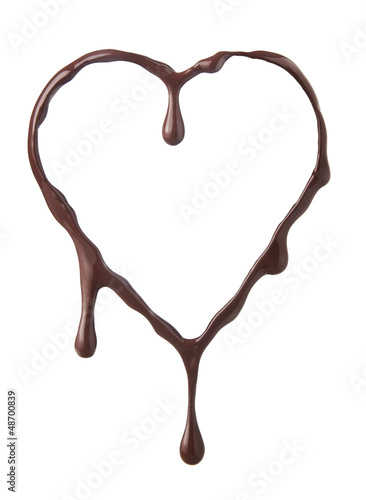 Molten chocolate heart