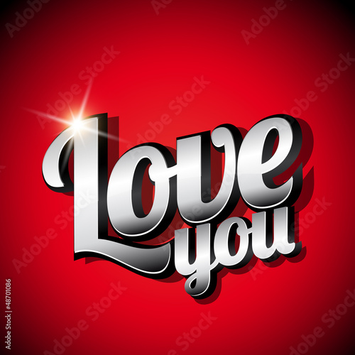 Love you vintage steel sign