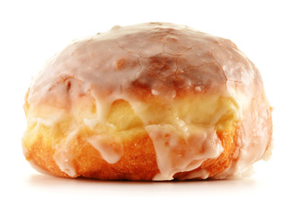 Fresh sweet doughnut isolated on white