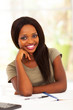 beautiful female african american college student portrait