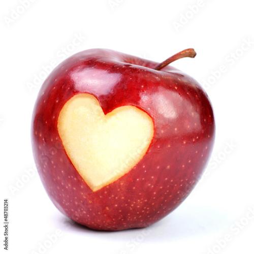 Apfel, Herz