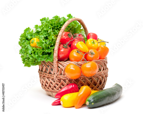 Mixed Fresh Vegetables in Basket