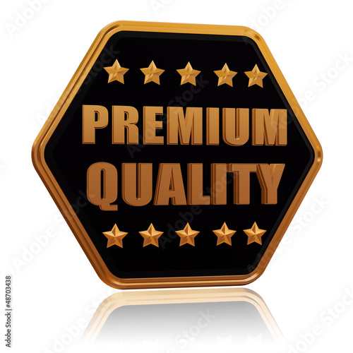 premium quality five star hexagon button