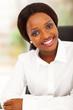 attractive african american office worker portrait