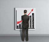 placard with growth of chart