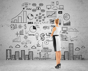 woman  looking at business concept