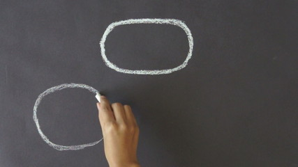 Plan A and B Chalk Drawing