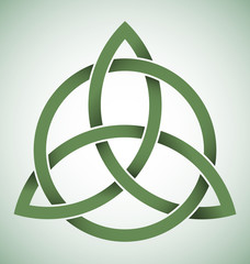 Triquetra symbol with gradients