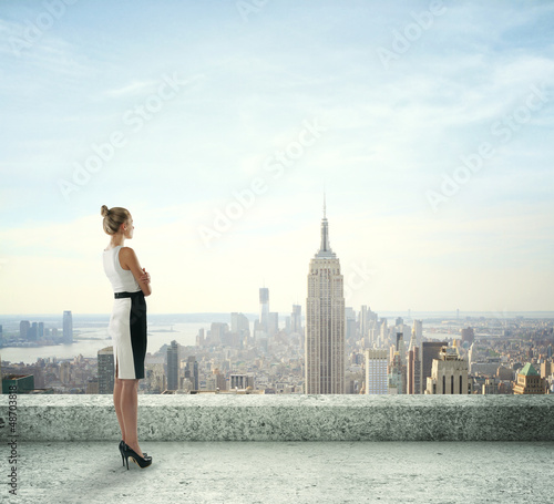 woman on roof