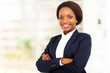 pretty african american businesswoman half length portrait