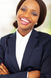 happy african businesswoman closeup portrait