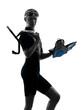 woman snorkler swimmer silhouette