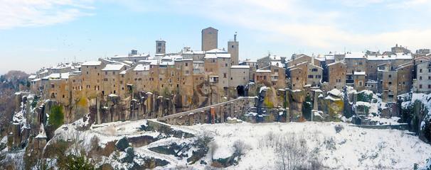 Vitorchiano - Panoramica con neve