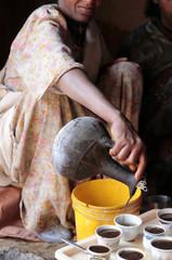 caffè in villaggio africano
