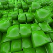 Electric green Cube Background