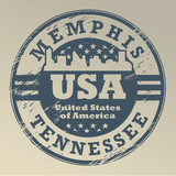 Grunge rubber stamp with name of Tennessee, Memphis, vector poster