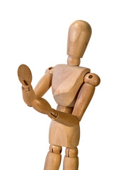 maniquí articulado de madera