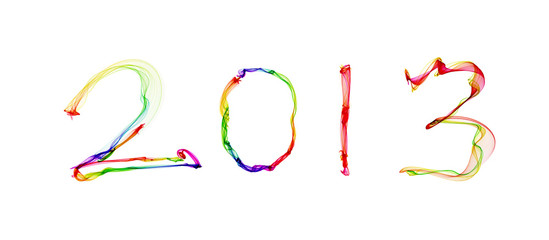 2013 in abstract smoke background