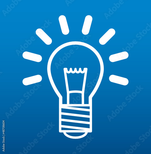 Light bulb sign, vector illustration