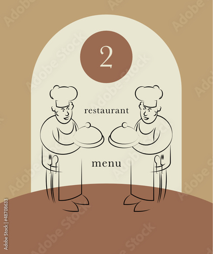 Menu design, vector illustration