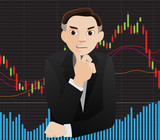 investor vector poster