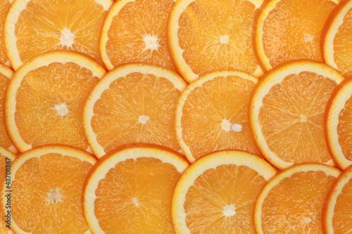 Fotobehang Plakjes fruit Orangenscheiben