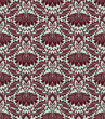 seamless vintage damask pattern background vector