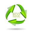 Eco friendly recycle vector symbol
