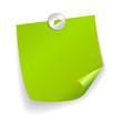 Vector green post-it illustration