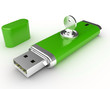 Data security. Information protection. Usb flash memory and key