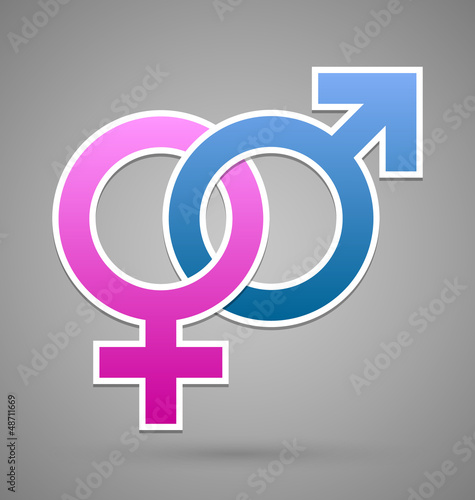 Venus and Mars female and male symbol