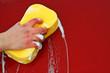 big foamy yellow sponge