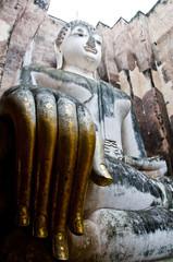 Giant seated Buddha, Sukhothai Historical Park - Thailand