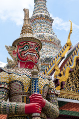 Thai guardian demon, Royal Grand Palace in Bangkok - Thailand