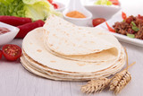 flour tortilla and ingredient