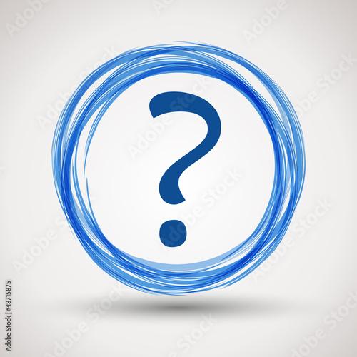 blue question