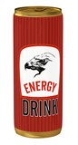 energy drink with eagle icon