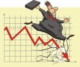 unhappy stock market investor poster
