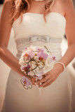 Wedding bouquet in bride hands