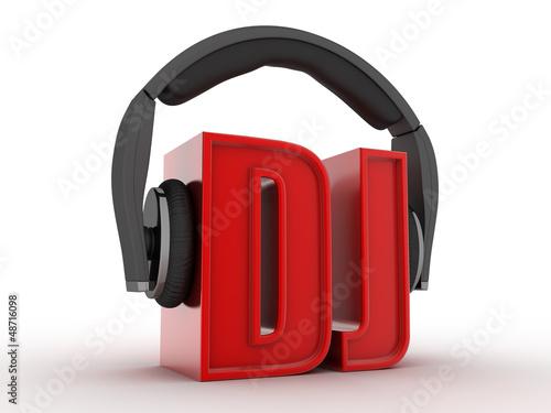 Text DJ and headphones