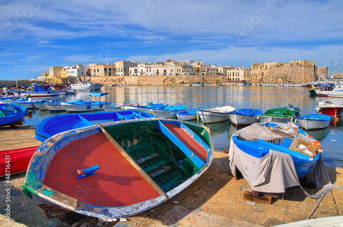 Leinwandbild Motiv Panoramic view of Gallipoli. Puglia. Italy.