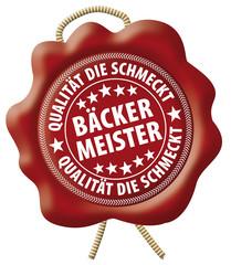 Bäcker Meister - Qualität die schmeckt - Wachssiegel