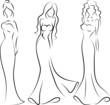 Мода женщина, иллюстрация руки рисования