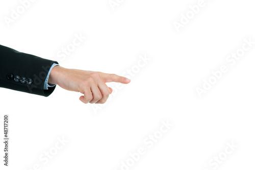 hand zeigt auf etwas