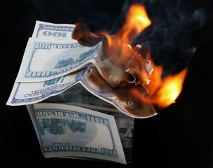 House of Dollar. fire
