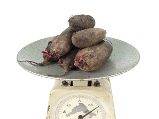 beet on scales